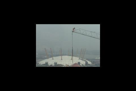 Canary Wharf crane worker